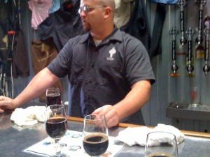 Tomme Arthur breaks it down from behind the tasting bar.