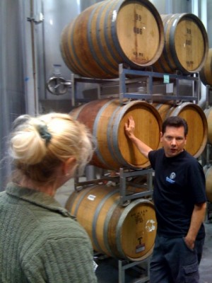 Ken explains the finer points of Stone's barrel aging.