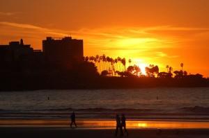 Sunset from La Jolla Shores