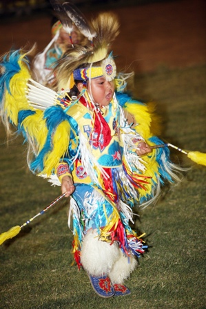 This awesome little guy at the Barona Pow Wow is repping the one culture that is actually from here.