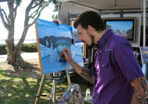 And look!  Real, live artists making real, live art before your eyes!  This is Michael Summers