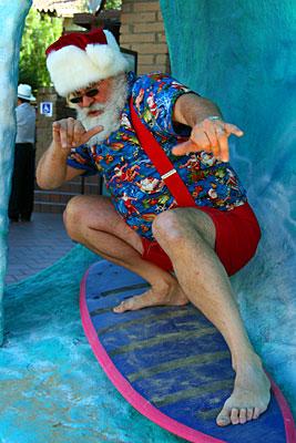 Surfing Santa at Seaport Village; Nov. 28