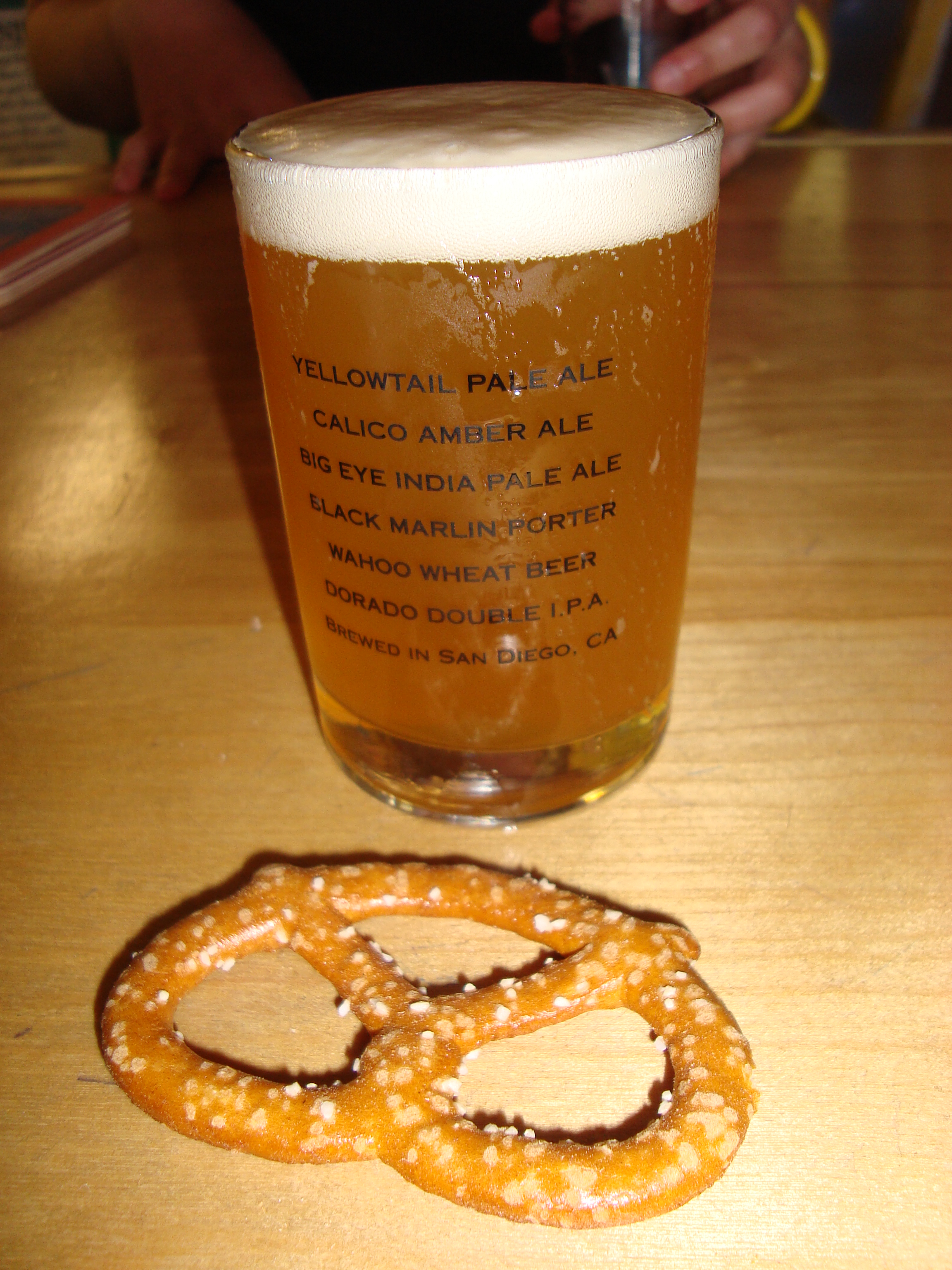 Mmm, pretzels and Ballast Point brew
