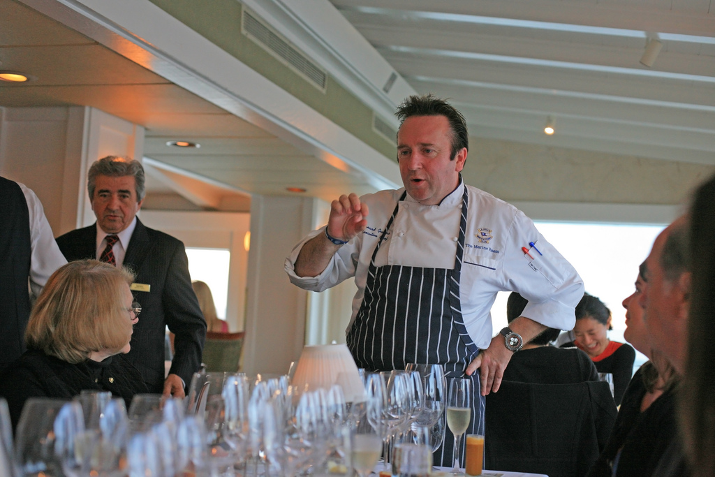 Chef Bernard Guillas at the Marine Room