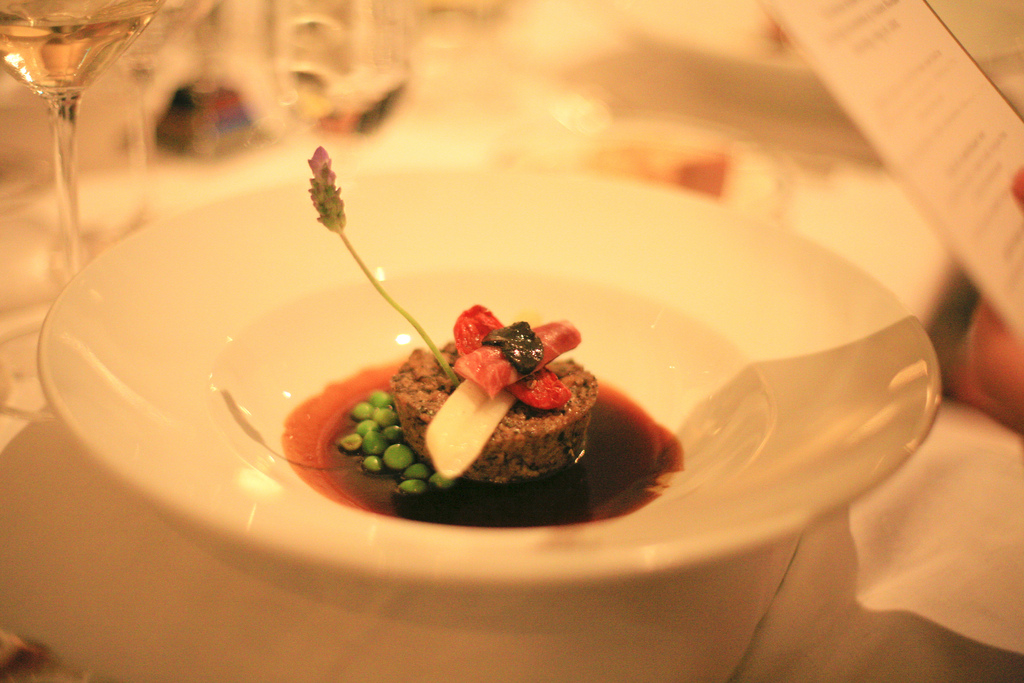 Artfully presented dishes are par for the course at the Marine Room