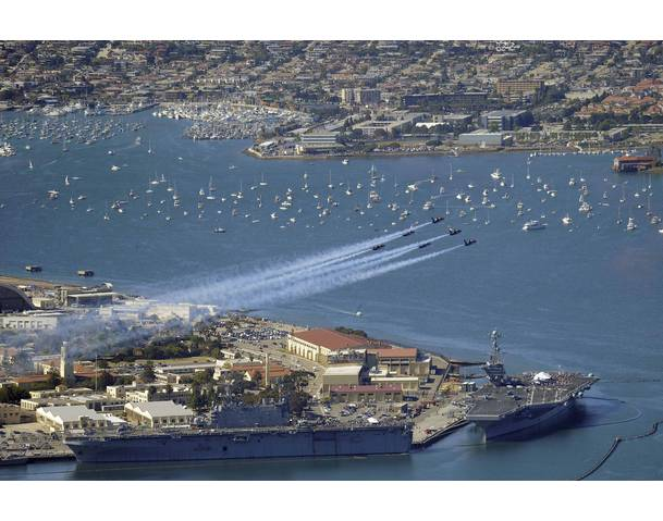 US Navy Flying over San Diego Bay