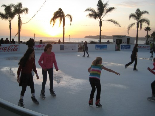 Ice skating into the New Year at the Hotel del Coronado
