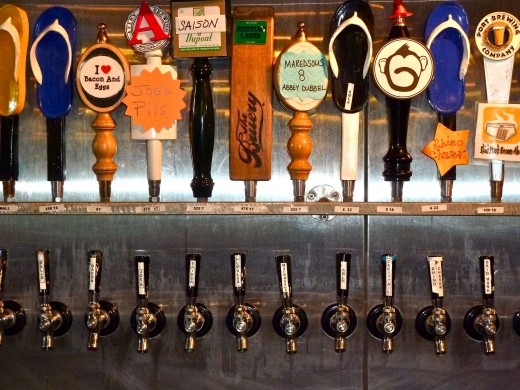 Just a Selection of Beer Taps at Pizza Port OB