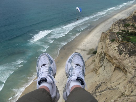 Floating above San Diego