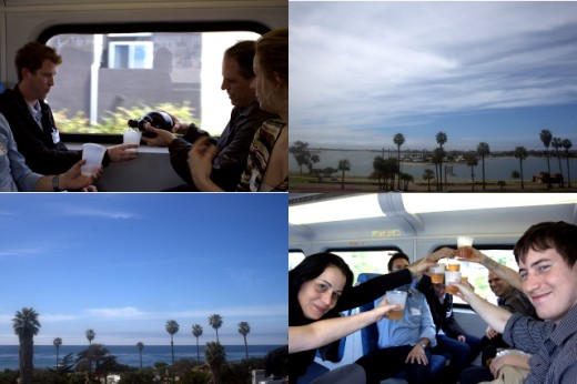 La Jolla Wine Tour Beer Train Tour Collage - Coaster Ride