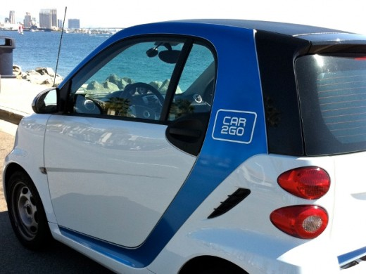 Car2Go with San Diego Skyline