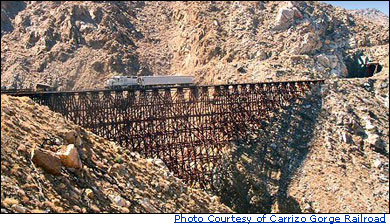 Goat Canyon Trestle Bridge in Anza-Borrego Dessert State Park