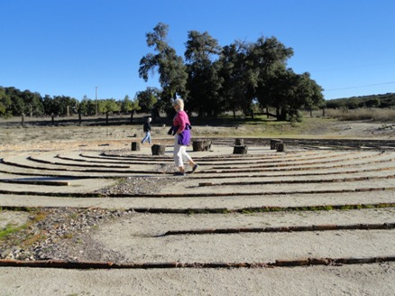 Giant labyrinth at Sacred Rocks Reserve