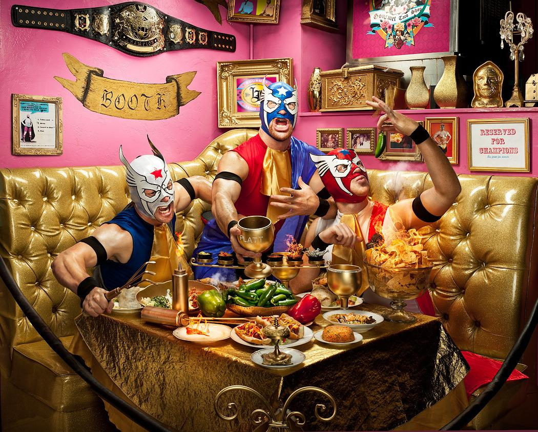 lucha-libre-taco booth