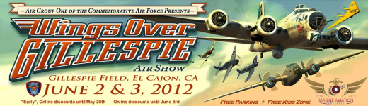 Wings Over Gillespie Air Show Banner 2012