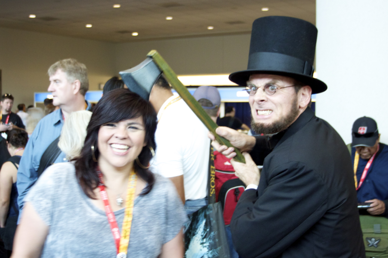 Abraham Lincoln was around to take care of unruly Comic-Con attendees and Zombies!