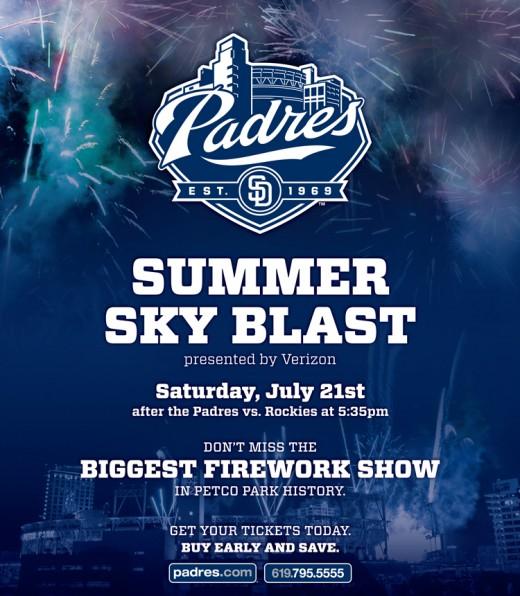 Padres Summer Sky Blast