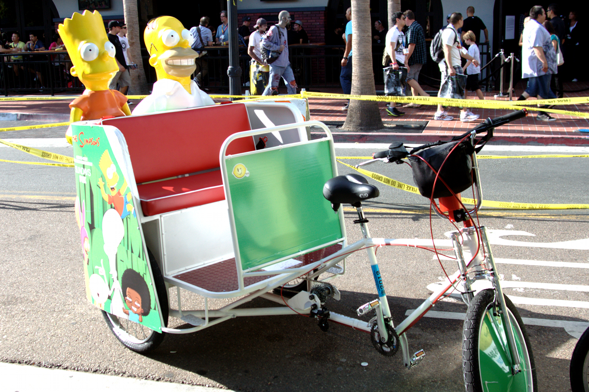 Homer and Bart Ride in Style!
