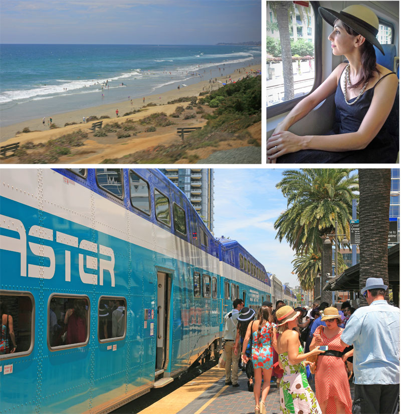 Ride the Coaster train to the Del Mar Racetrack