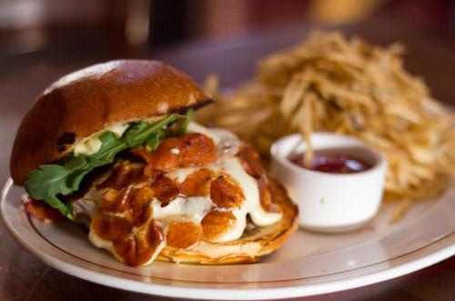 Cheeseburger at Davanti Enoteca in San Diego's Little Italy