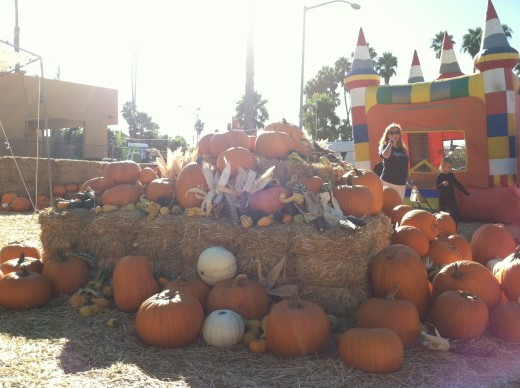 Pumpkins, Hay and a Castle Jumpee at PB Pumpkins