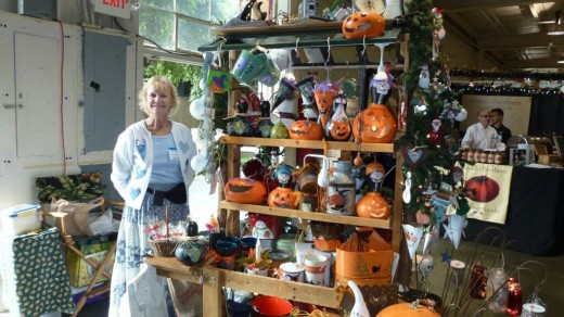 Holiday decorations for sale at the Harvest Festival Original Art & Craft Show