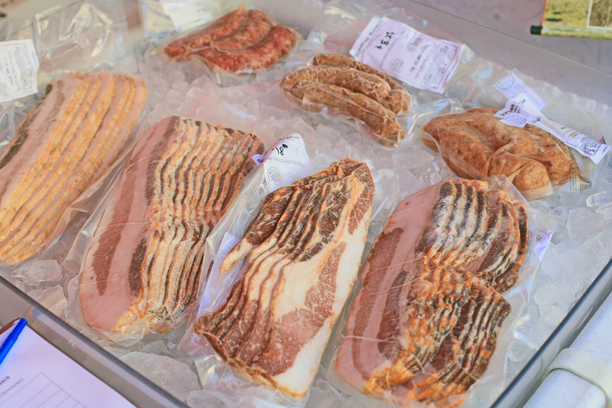 Fresh meats available at San Diego Farmers Markets