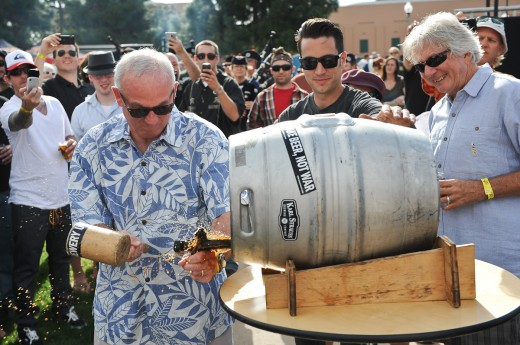 Mayor Sanders Tapping the first keg - San Diego Beer Week Brewers Guild Festival