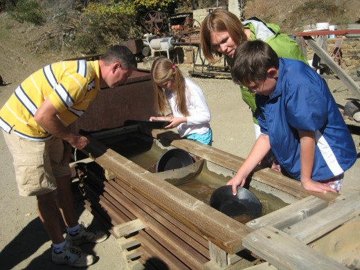 Family Panning for Gold - Julian Mining Company