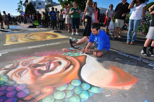 Chalk Art - Little Italy Festa!