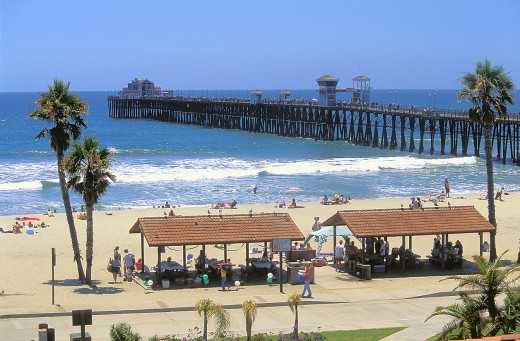 Picnic Area in front of Oceanside Pier
