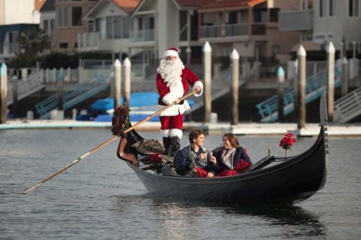 The Gondola Company's Buon Natale gondola ride at Loews Coronado Bay Resort!