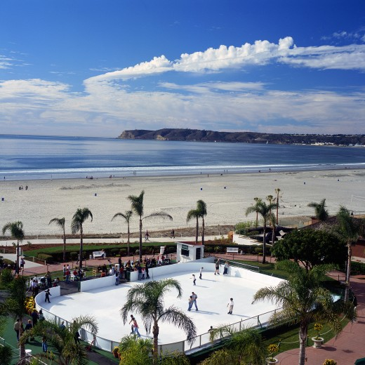 Skating by the Sea Aerial - Hotel del Coronado