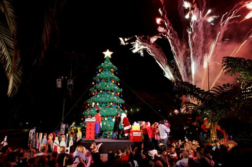 The largest LEGO Christmas tree in the World at LEGOLAND California Resort