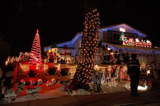 Christmas Light Display - Rancho Penasquitos Christmas Card Lane