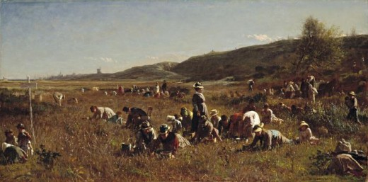 Eastman Johnson, The Cranberry Harvest, Island of Nantucket