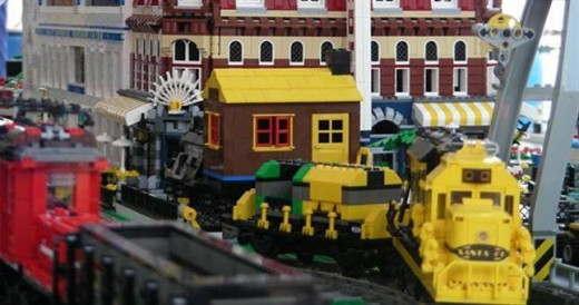 LEGO Train City Exhibit - San Diego Model Railroad Museum