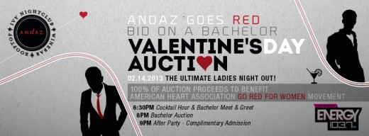 Andaz goes red - Valentine's Day Auction