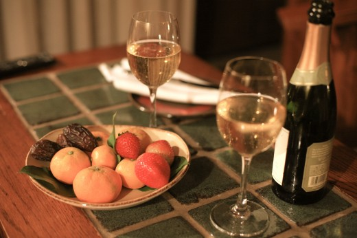 Lodge's Champagne and Fruit