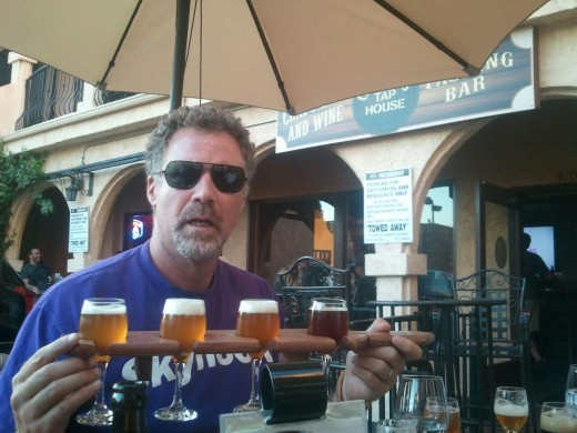 Will Ferrell Enjoying a Flight at Clem's Tap House