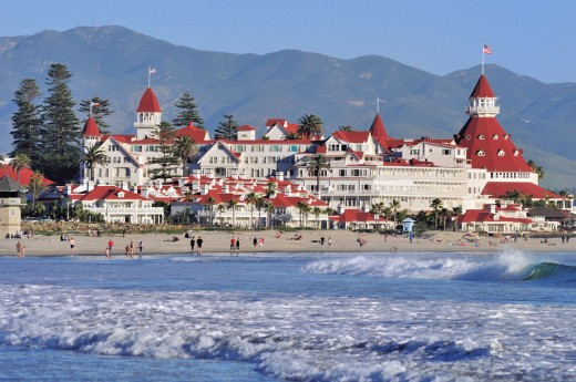 Coronado Beach and Hotel del Coronado - photo credit Brett Shoaf