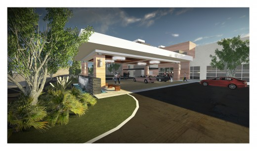 Rendering of chic new Viejas Hotel