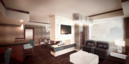 Rendering of Presidential Suite at Viejas Hotel