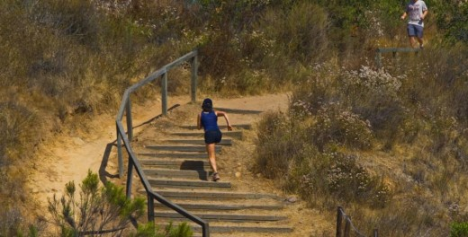 Runner in Balboa Park's Florida Canyon Trial