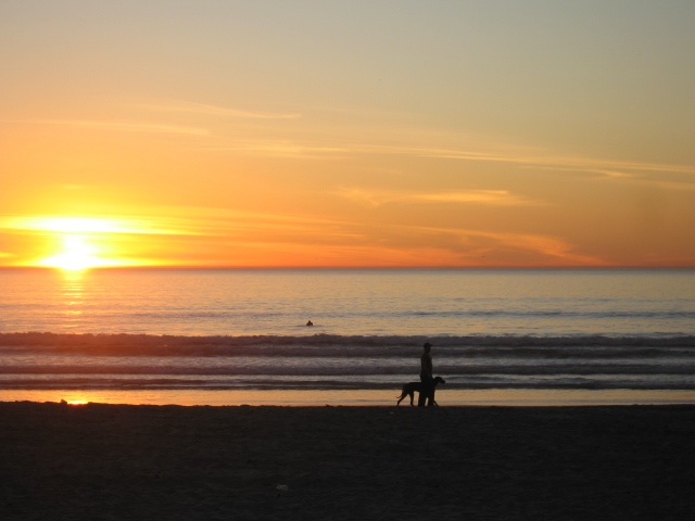 Mission Beach Sunset - Scenic Waterfront Walks