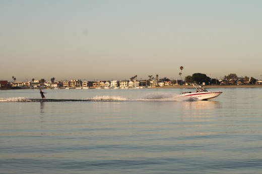 Mission Bay Water Skier and Boat
