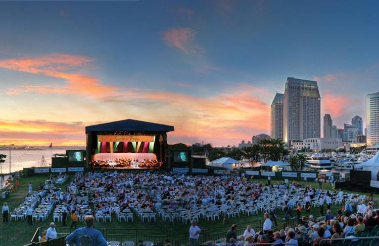 San Diego Symphony Summer Pops pairs music with the beautiful downtown skyline.