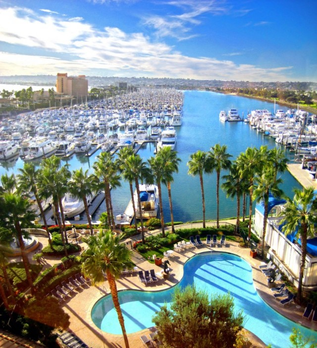 Sheraton San Diego Hotel Pool and Marina