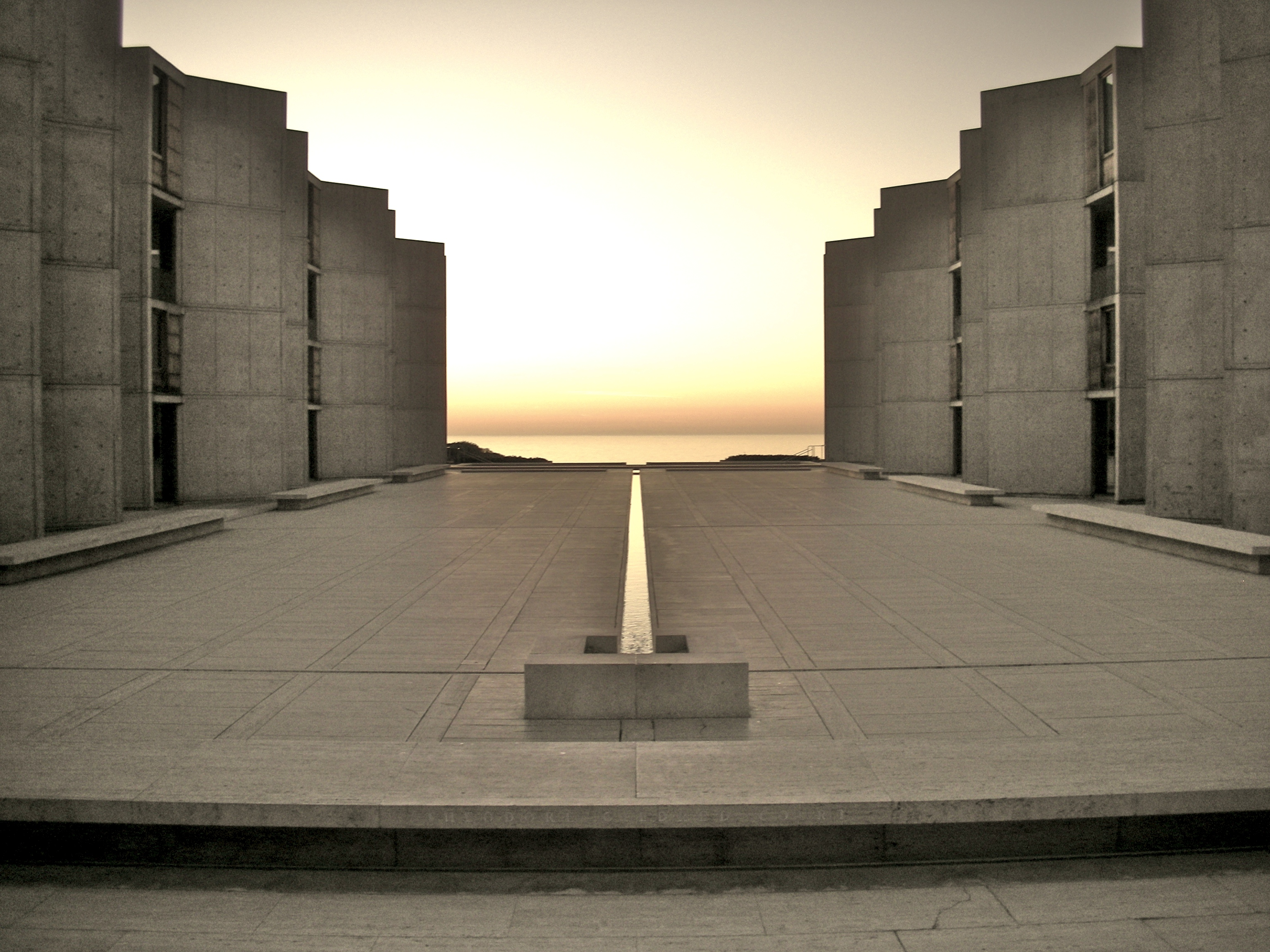 Beau See The Architectural Design Of The Salk Institute In La Jolla