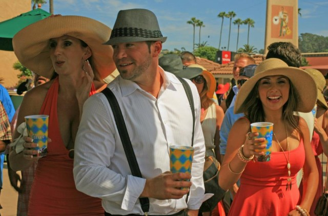 A plethora of interesting hats at the Del Mar Races Opening Day